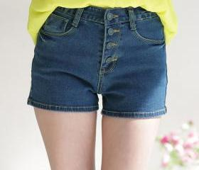 summer high waist denim shorts thin big yards