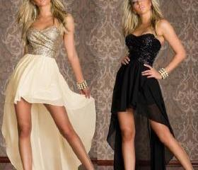Sequin Strapless chiffon skirt tail nightclub sexy dress prom dress party dress skirt in