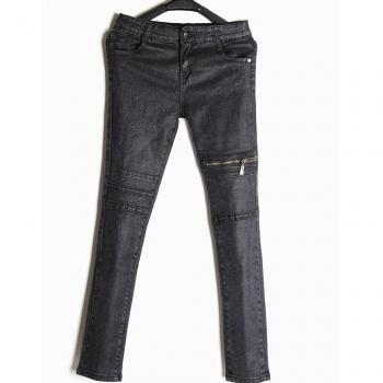 European and American Stretch Skinny jeans zipper feet were thin black pencil